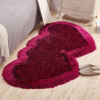 御目 地毯 简约现代长方形家用可爱卧室床边地毯客厅心形床边毯家居用品防滑地垫创意家饰