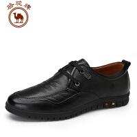 骆驼牌 新品系带男鞋休闲商务低帮鞋舒适耐磨头层摔纹牛皮
