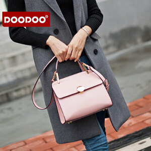 DOODOO 手提小包包2016新款韩版简约斜挎小方包女士斜挎单肩女包潮 D6181 【支持礼品卡】