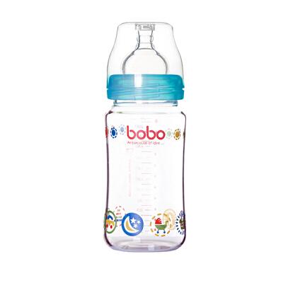 【当当自营】乐儿宝(bobo) 玻璃奶瓶240ml 蓝色 IBP526-B