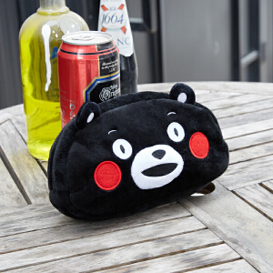 KUMAMON酷MA萌收纳包小号熊本熊化妆包 便携手拿包 可爱超萌拉链袋正版 GZ1204