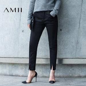 【AMII超级大牌日】[极简主义]i2017年春女新款百搭修身大码休闲长裤11692145