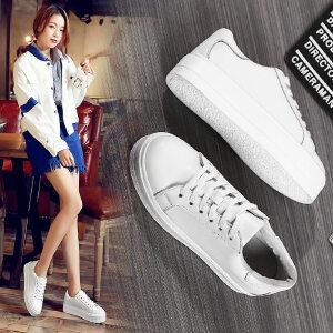 ZHR2017春季新款韩版厚底小白鞋女真皮平底板鞋学生单鞋休闲鞋潮G28