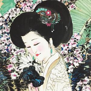 林庸《美女》著名画家