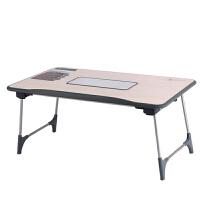大豪 赛鲸笔记本电脑桌 学习桌 床上桌 笔记本散热桌  脚可以折叠 榉木色