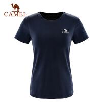 camel骆驼户外女款T恤 春夏女士圆领短袖T时尚休闲舒适T