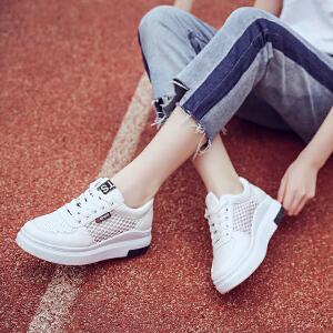 新款休闲鞋透气单鞋女士运动板鞋平底系带百搭学生鞋圆头百搭女鞋小白鞋
