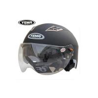 YEMA野马 摩托车头盔夏季男女电动车双镜片防晒紫外线半覆式夏盔