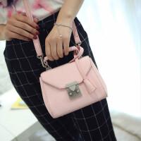 包包新款手提包时尚插锁小方包单肩包小包斜挎包女包