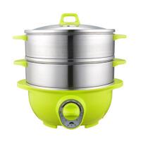 家用多功能电蒸锅三层电蒸笼桑拿锅不锈钢蒸锅