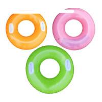 泳圈INTEX 大小孩大人成人加厚充气浮圈救生圈把手腋下游泳圈