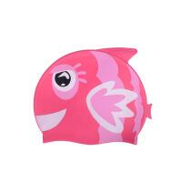 儿童泳帽男童女童硅胶泳帽可爱卡通游泳帽子 防水护耳
