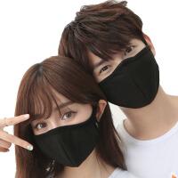 男女纯棉可爱情侣防尘口罩防晒透气黑色卡通骑行