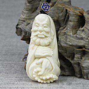 【达摩挂件】 冰料 手工精雕 20.66g