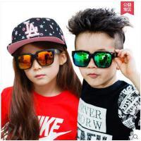 新款儿童太阳镜蛤蟆镜时尚男童女童防晒眼镜防紫外墨镜潮   可礼品卡支付