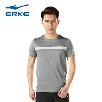 鸿星尔克男装夏季运动服新款透气短袖T恤休闲上衣
