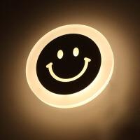 御目 LED壁灯 圆形led简约床头灯楼梯走廊过道灯创意儿童房间墙壁灯具护眼灯家居室内卧室装饰灯照明学生礼品小夜灯