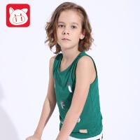 小猪班纳儿童背心男童2017夏季新款中大童童装无袖背心男休闲