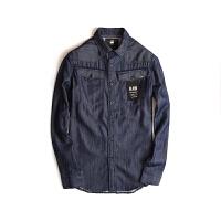G-Star 春夏新款男式衬衣修身轻质原色牛仔衬衫休闲衬衣薄款夹克D02980.8344