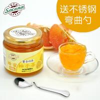 【买2瓶送勺】 Socona蜂蜜柚子茶500g韩国风味水果茶蜜炼酱冲饮品