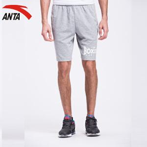 安踏男装运动裤夏季简约休闲字母男运动针织五分短裤15627784