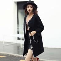 冬装女韩版时尚百搭中长款气质呢子大衣