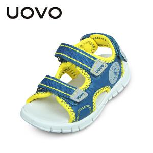 UOVO儿童凉鞋新款2017夏季男童凉鞋小童沙滩鞋潮露趾童鞋时尚舒适宝宝凉鞋圣马丁