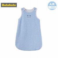 巴拉巴拉婴儿用品保暖睡袋秋装2017新款宝宝防踢被女童连体睡袋厚