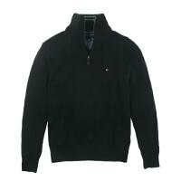 TOMMY HILFIGER秋冬款男装针织衫 汤米纯色半拉链卫衣 男士外套 走顺丰国际