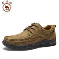 男鞋新品低帮户外牛皮休闲舒适日常耐磨男士鞋时尚圆头系带
