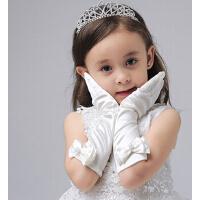 新款时尚儿童礼服花童手套礼仪手套 女童婚纱手套公主裙配饰