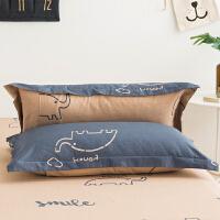 纯棉枕套枕头套纯棉全棉枕套单人枕头套枕芯套