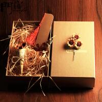 门扉 礼品包装盒 礼品盒牛皮纸礼品袋子大号包装盒子长方正方形学生生日礼物盒伴手礼礼盒