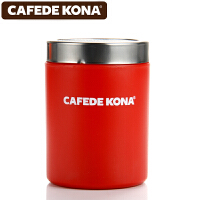 CAFEDE KONA撒粉器 不锈钢撒粉筒罐精细网纱式桶可可粉 咖啡粉具 红色CK8998