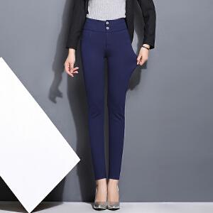 春夏新款打底裤外穿女韩版高腰长裤弹力显瘦铅笔裤小脚裤LB708