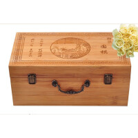 好吉森鹤/北京线上50元包邮//竹质手提箱围棋罐包装箱/围棋包装盒/竹木质包装盒---1个+送品YY7901