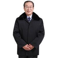 冬季中老年棉衣加厚外套  时尚老年男装老人棉衣棉袄