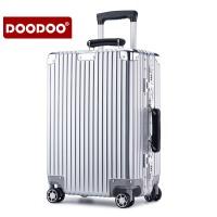DOODOO 铝框行李箱男女万向轮拉杆箱20寸登机箱24寸旅行箱特大29寸密码皮箱 D0703