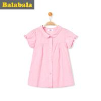 巴拉巴拉童装女童长袖衬衫小童宝宝上衣2017夏装新款儿童衬衣女潮
