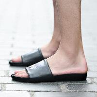 夏季男式凉鞋百搭浴室拖鞋套脚韩版平底鞋男鞋罗马拖鞋子男休闲鞋