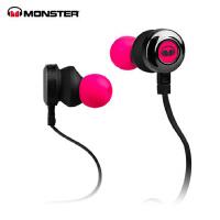 MONSTER/魔声 CLARITY HD灵晰入耳式面条魔声耳机 运动魔音耳机粉色