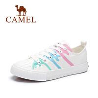 Camel/骆驼女鞋 2017春夏新款 休闲舒适透气帆布鞋