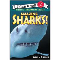 原版儿童英文绘本I Can Read Amazing神奇系列之Amazing Sharks!
