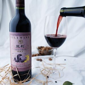 【河北特产】赤霞珠 干红葡萄酒酒庄直供 浪漫烛光晚餐陈酿750ml/瓶