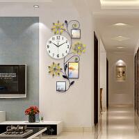 御目 挂钟 书房卧室客厅个性时钟现代欧式金属夜光挂表简约装饰静音机芯石英钟挂饰创意家饰