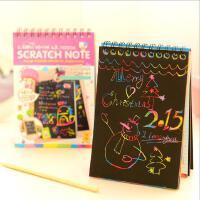 韩版学生文具刮刮涂鸦本DIY自制趣味礼品涂层本便签本
