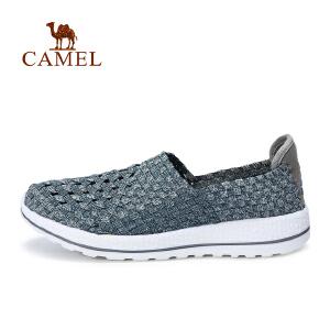 camel骆驼户外休闲鞋 男款舒适套脚鞋出游鞋休闲鞋男