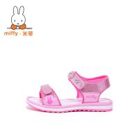 Miffy米菲女童凉鞋2017春季新款儿童鞋小学生女孩公主沙滩鞋韩版