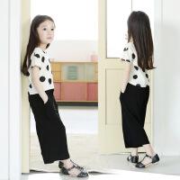 童短袖夏款中大童韩版女童装T恤亲子装套装