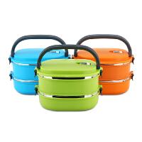 不锈钢方形保温饭盒桶创意可爱学生饭盒便当盒双层分格
